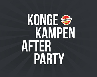 Visuel identitet, tryk og web for Kongekampen Afterparty